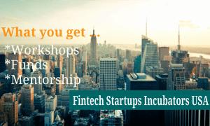 Fintech Startups Incubators USA